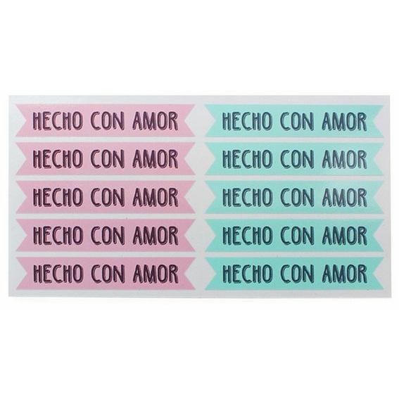 Etiquetas Packaging Bandeirinha, Feito com Amor DIY.