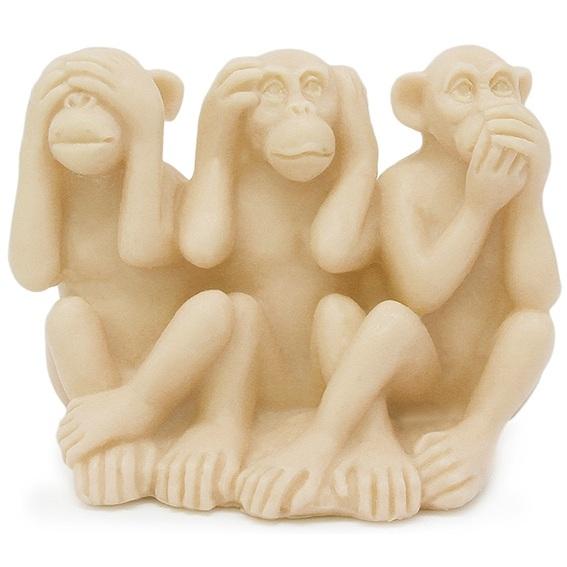 Molde 3D, 3 Macacos Divertidos.