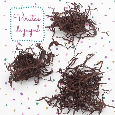 Virutas de papel marron chocolate
