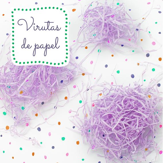 Aparas de papel cor lilas