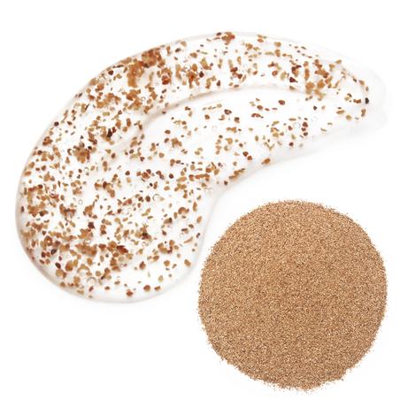 Esfoliantes naturais osso de pêssego