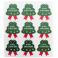 Adesivos Packaging Natal, 10 Abetos Grandes com Reborde Dourado