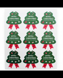 Pegatinas packaging Navidad, Abetos Grandes