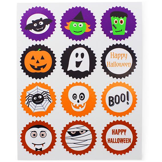 Mix de pegatinas de Halloween