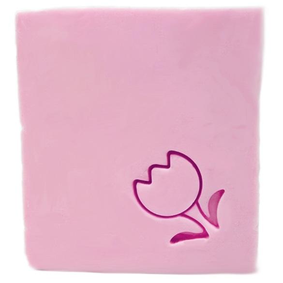 Mini Carimbo para sabonetes, Tulipa com Folhas.