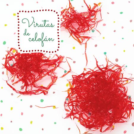 Virutas de celofan rojo cereza