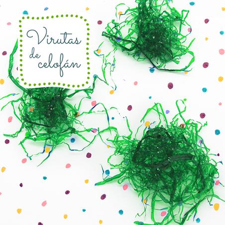 Virutas de celofan verde