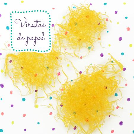 Virutas de celofan amarillas