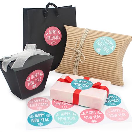 Adesivos Packaging Happy X-mas