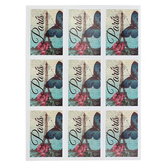 Pegatinas sello vintage París