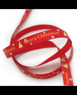 Cinta de Tela para Packaging, Merry Christmas