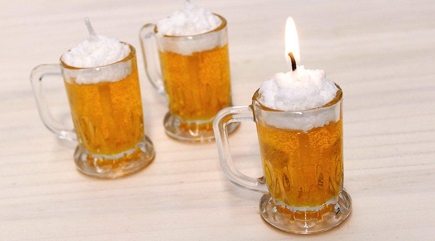 Velas de cerveza caseras para decorar originales y for Como hacer velas decorativas