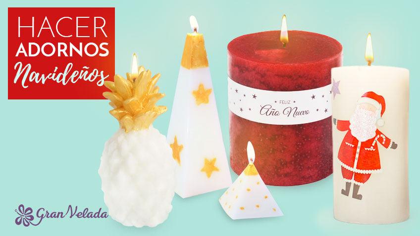 Hacer adornos navide os con velas en casa faciles y - Hacer adornos navidenos ...